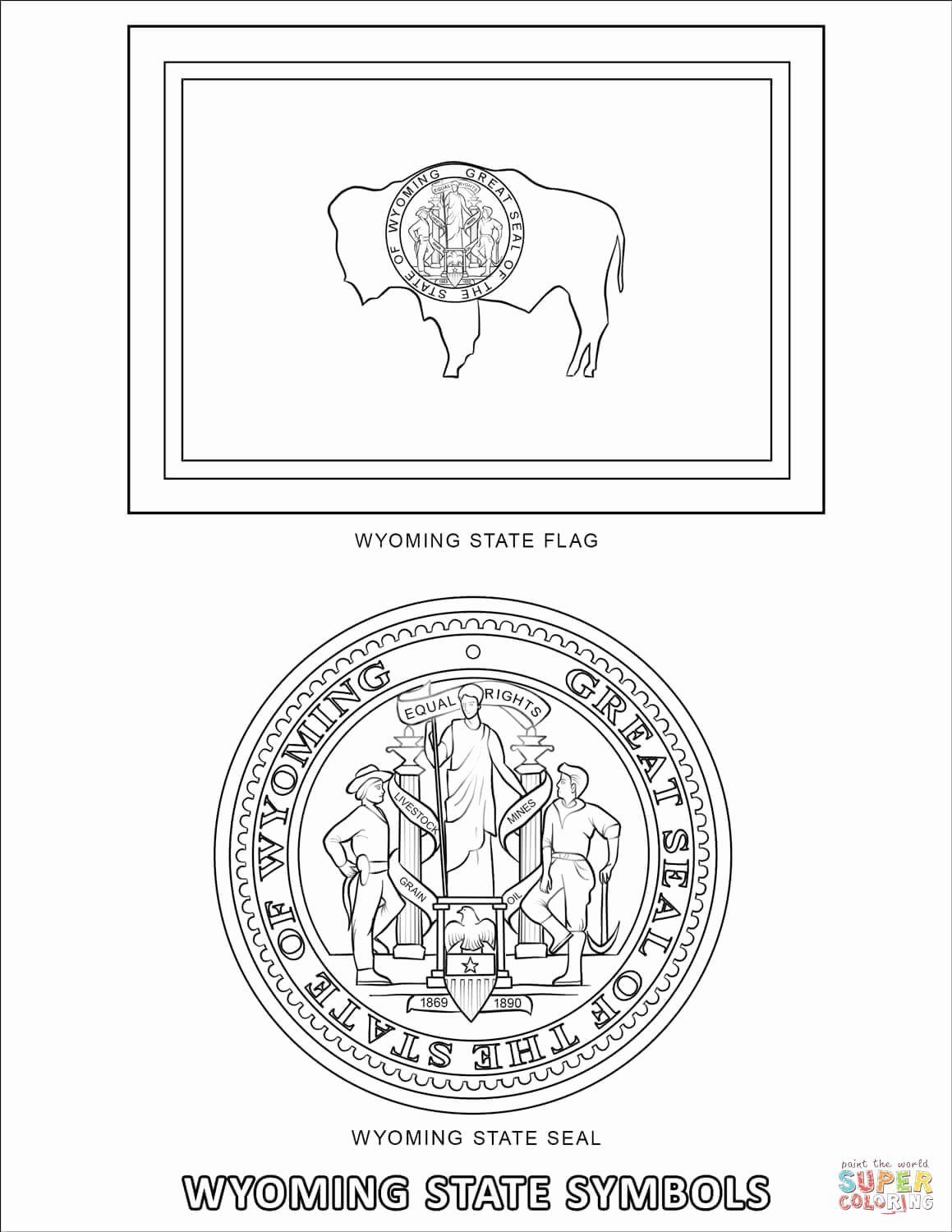 Wyoming State Flower Coloring Page Beautiful Wyoming State