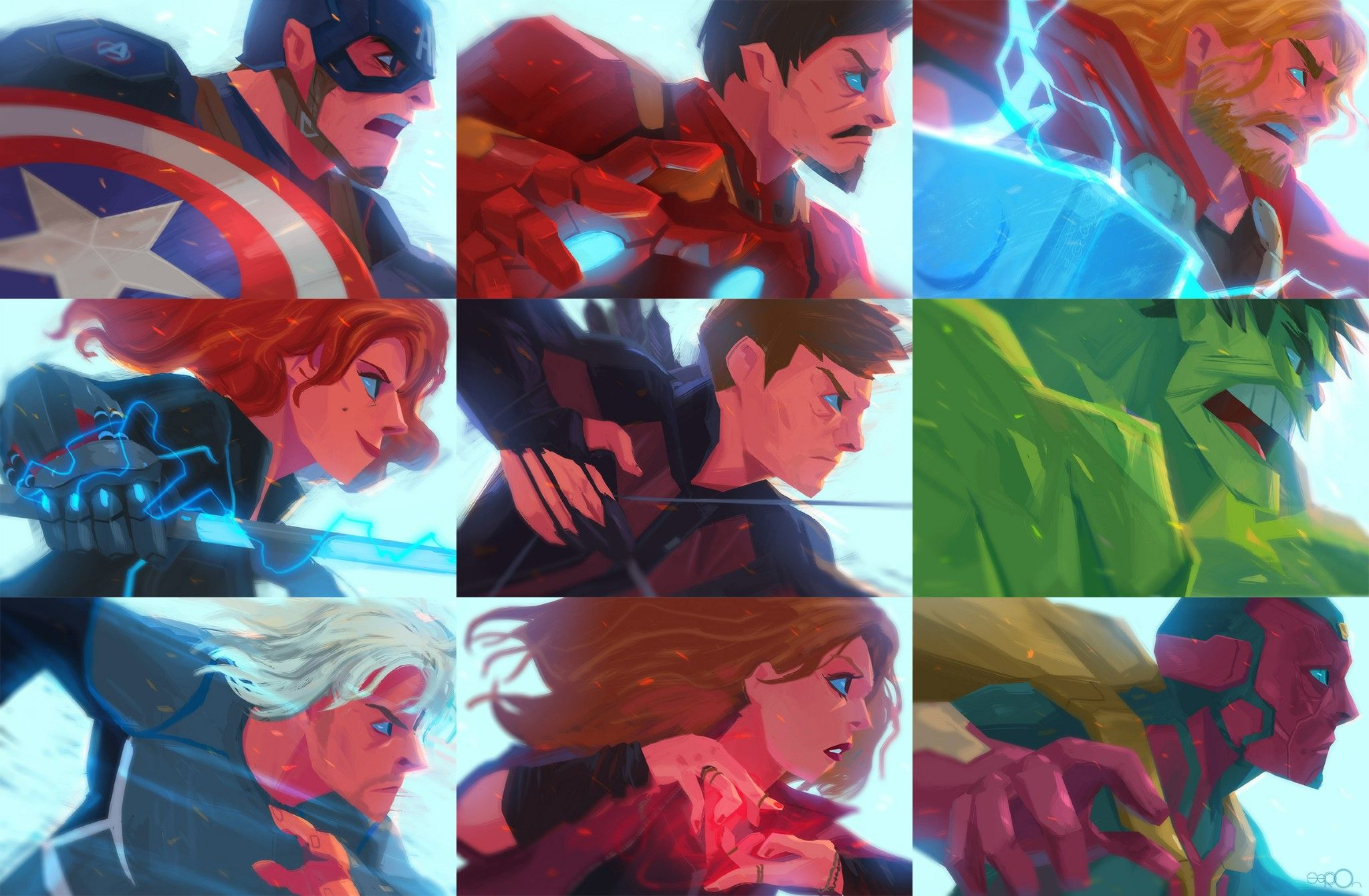 avengers, assemble! by Seoro Oh (oseoro tumblr com) #seorooh   For