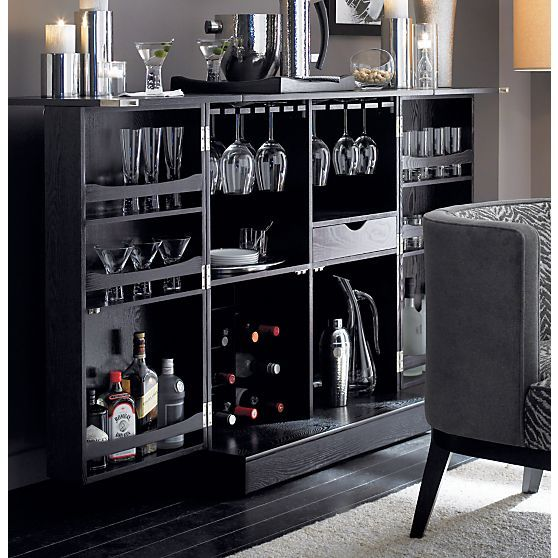 steamer bar cabinet i crate and barrel