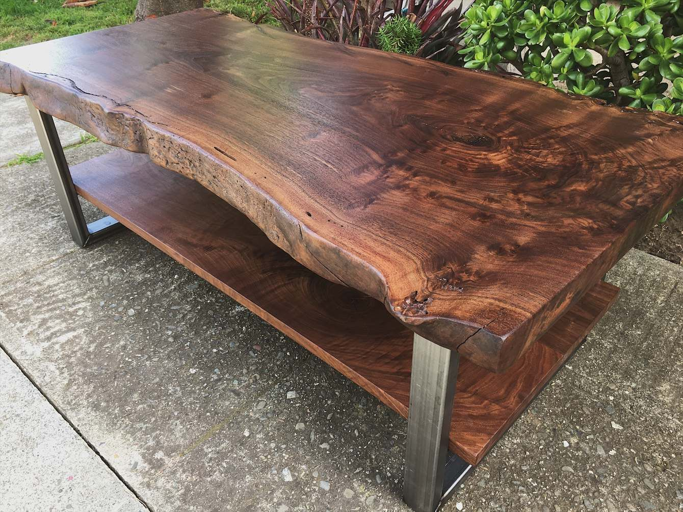 Two Level Black Walnut Coffee Table Ambrose Woodworks Coffee