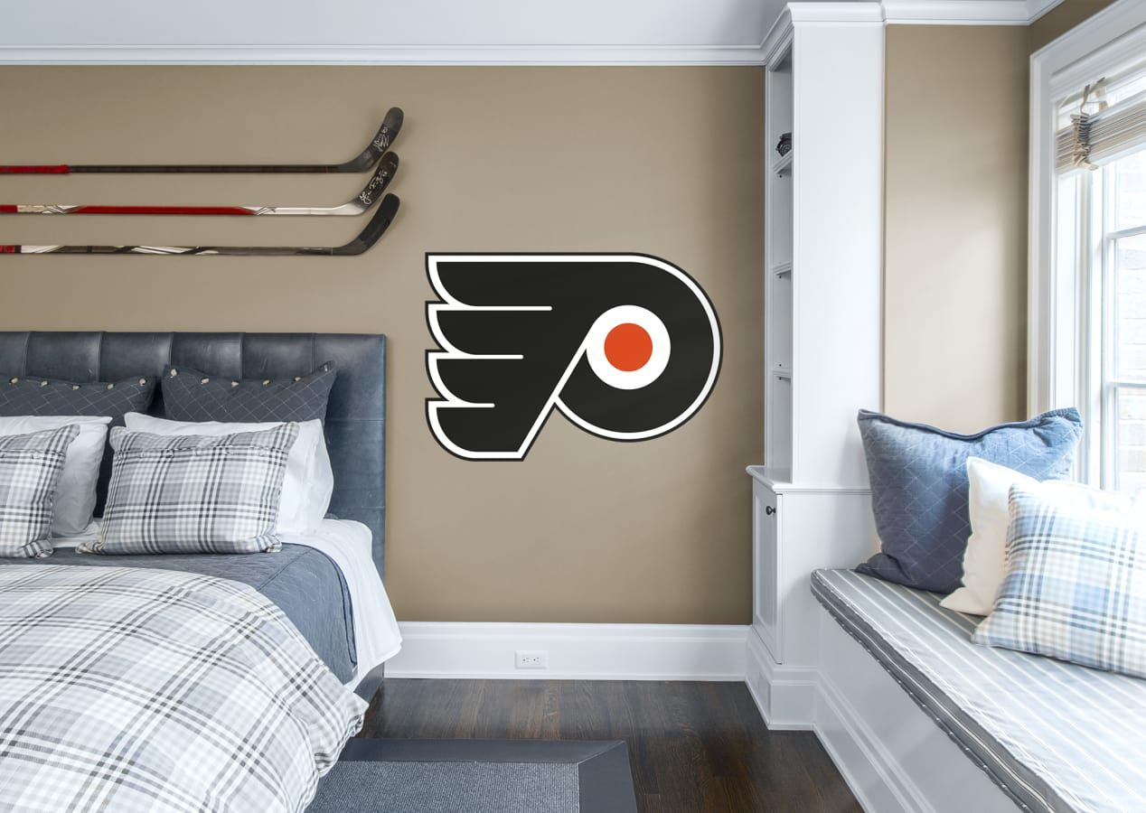 philadelphia flyers logo giant officially licensed nhl on wall logo decal id=57459