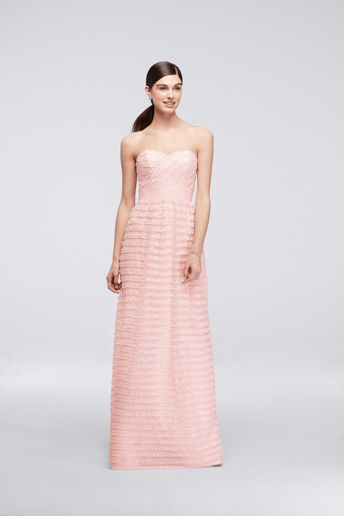 Long Strapless Tulle CHEERS Cynthia Rowley Bridesmaid Dress with ...