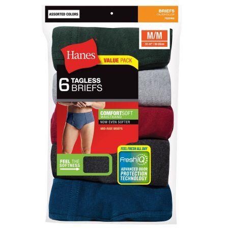 Medium Hanes Mens FreshIQ Comfort Flex Waistband Boxer Brief 6-Pack Assorted