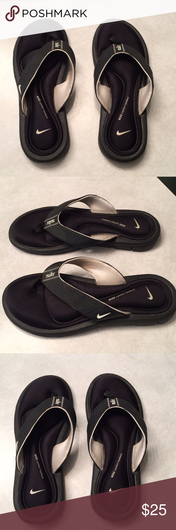 9ab419e2991c NIKE COMFORT BED FLIP FLOPS SIZE 7 EXCELLENT CONDITION SIZE WOMENS 7 COMES  FROM A SMOKE FREE HOME Nike Shoes Sandals