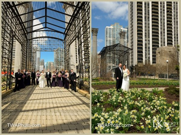 Purple and Gray Chicago Wedding.