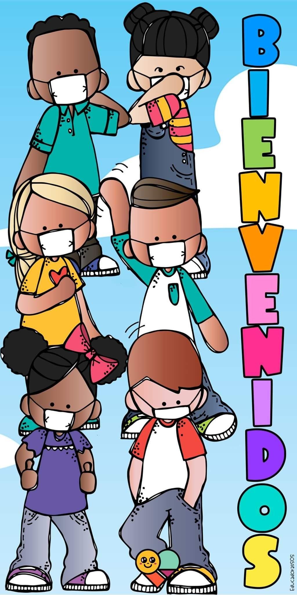 Lona para puerta en 2020   Niños escolares, Dibujos para preescolar,  Actividades escolares