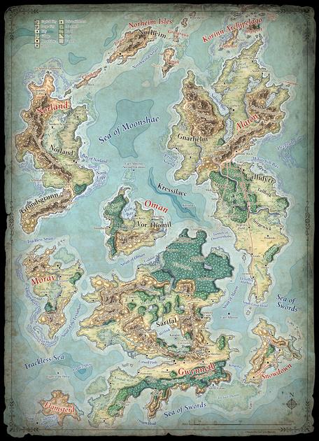 Interactive Map Of Faerun : interactive, faerun, Campaign, Fantasy, Imaginary, Maps,