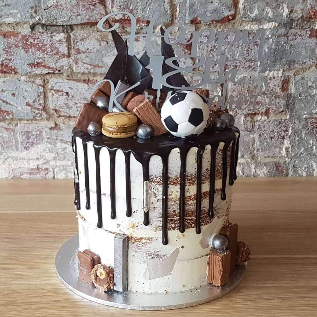 Anyone For A Soccer Drip Birthday Cake Soccerball Cakeporn