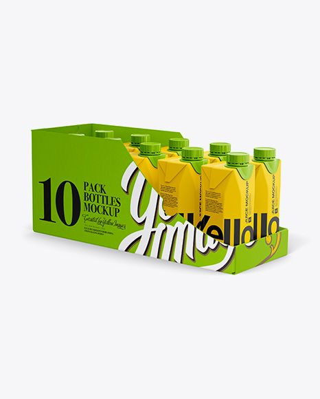 Download 10 Drink Carton Boxes In Shelf Ready Package Full Opened Halfside View In Box Mockups On Yellow Images Object Mockups Mockup Free Psd Free Psd Mockups Templates Mockup Free Download