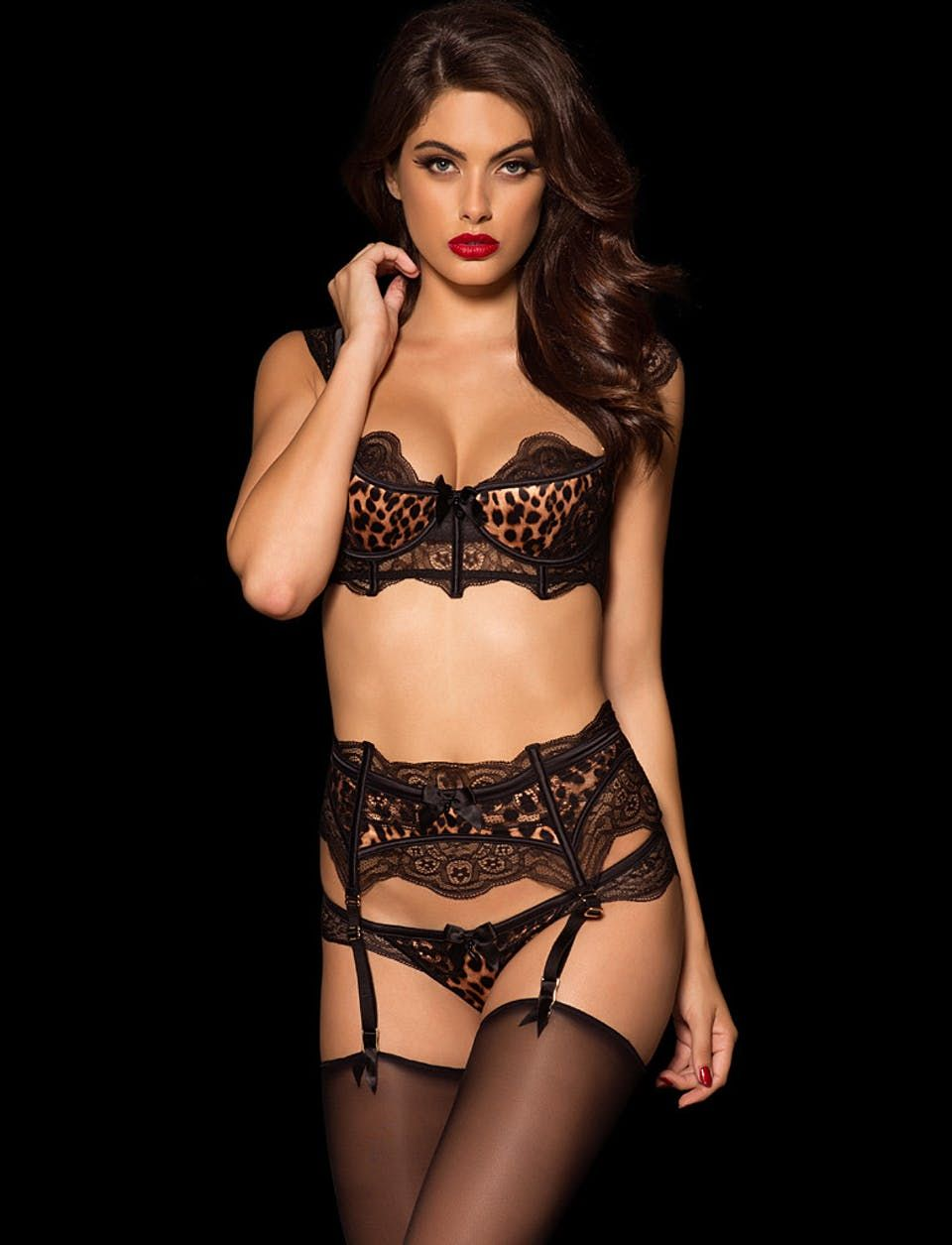 68772e3451f57 Honey Birdette Dolce Leo Brief Suspender Set | LINGERIE | Lingerie ...