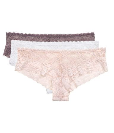 3-pack Lace Hipster Briefs | Powder | Ladies | H&M US