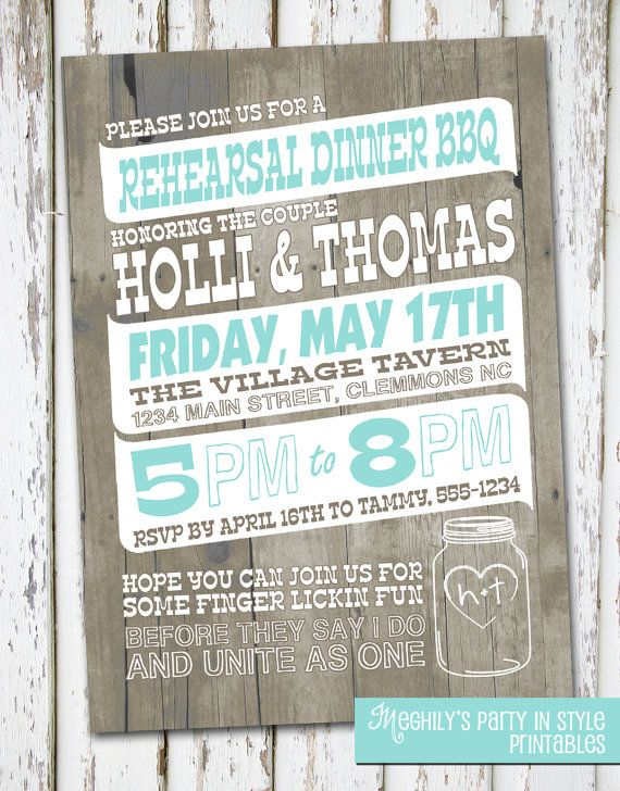 country rustic rehearsal dinner invitation by meghilys on etsy