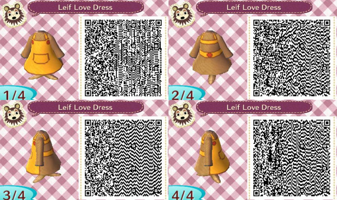 Animal Crossing New Leaf Leif Love Dress QR Code
