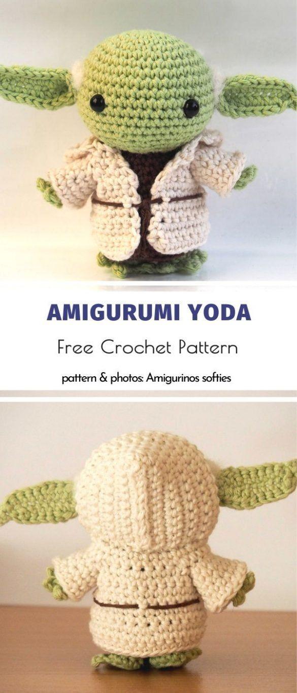 Baby Yoda Amigurumi free pattern   Amigurumi patrones gratis ...   1365x585