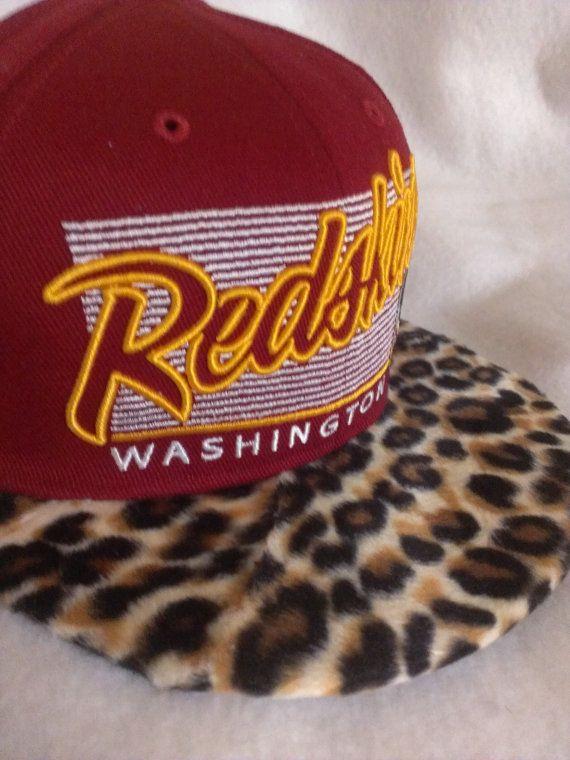 9c9a72aca Washington Redskins Leopard custom snapback by KnoIdeaKingJames ...