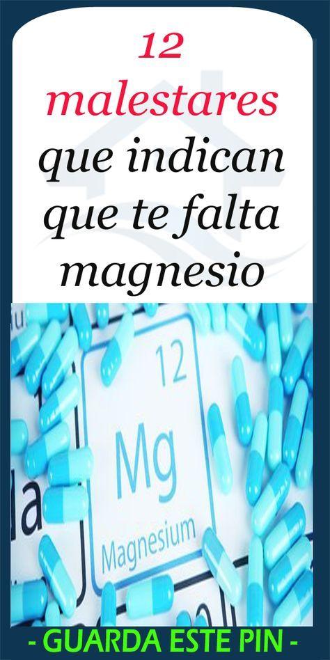 12 malestares que indican que te falta magnesio #información #salud #magnesio #mineral