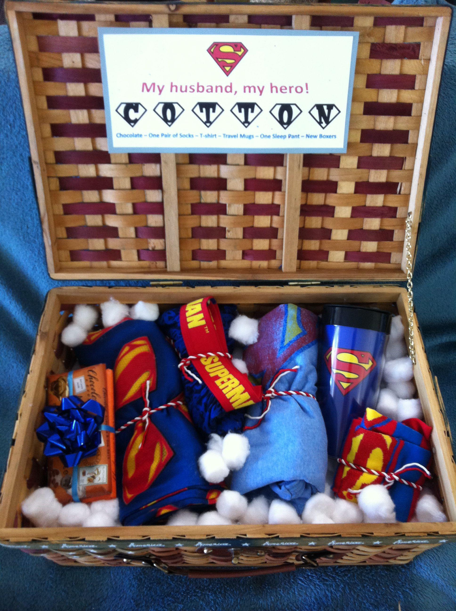 2nd anniversary cotton super husband basket 2nd