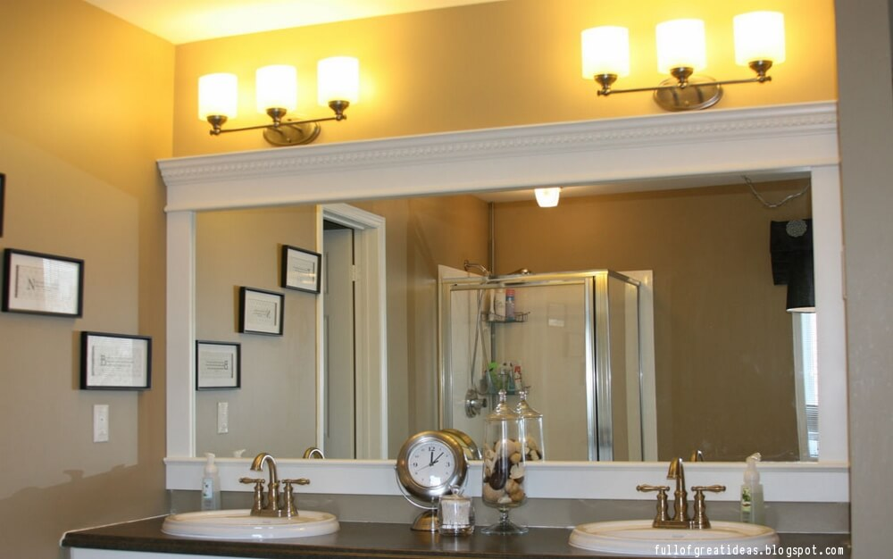 Where To Install Crown Molding In Your Home In 2020 Bathroom Mirrors Diy Mirror Frame Diy Bathroom Mirror Makeover