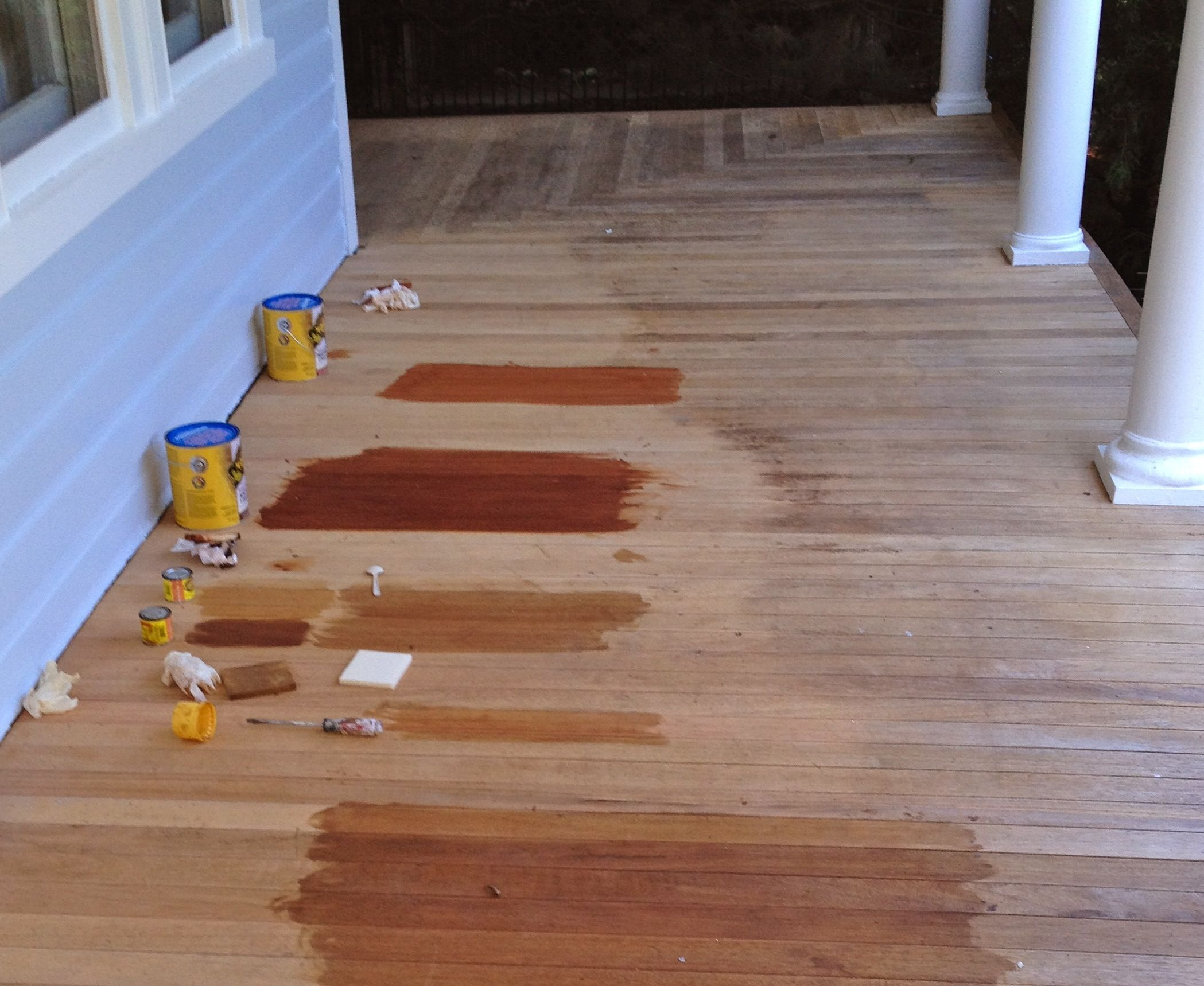 Front Porch Part 3 of 3 Where we sand and stain the floor But