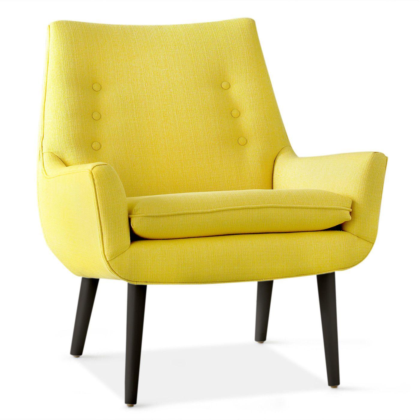 Mrs Godfrey Chair Modern Armchair Design Yellow Chair Yellow