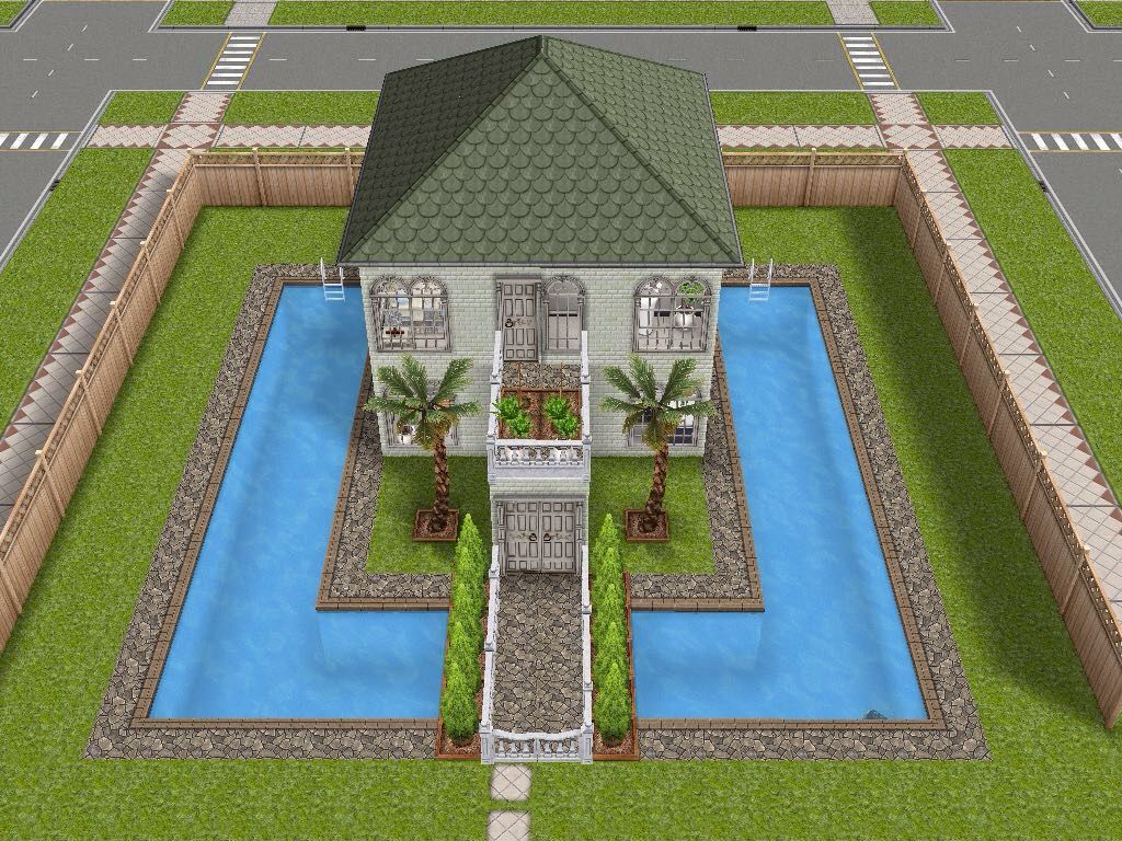 Sims freeplay pool ideas images for Modele maison sims freeplay