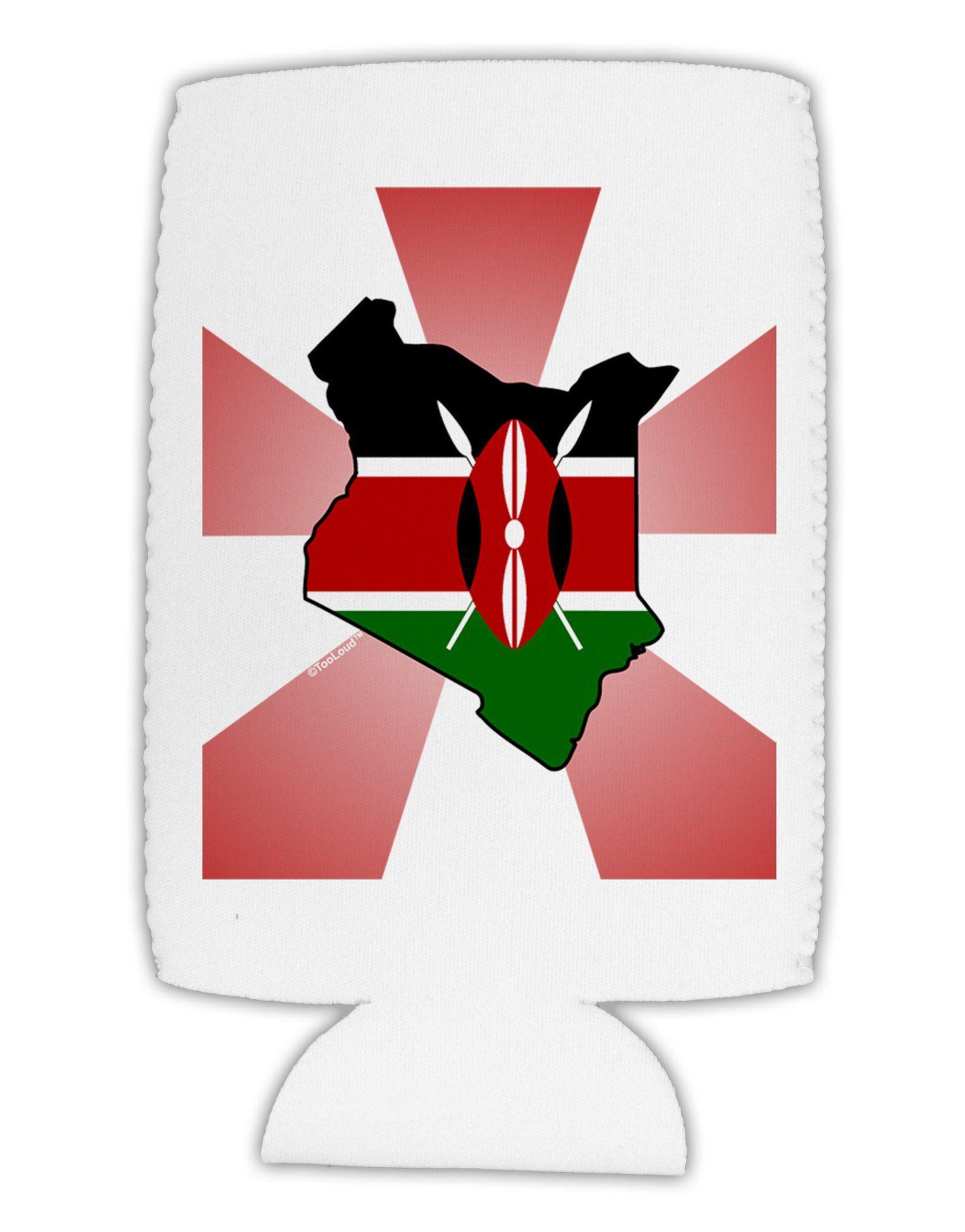 Kenya Flag Design Collapsible Neoprene Tall Can Insulator
