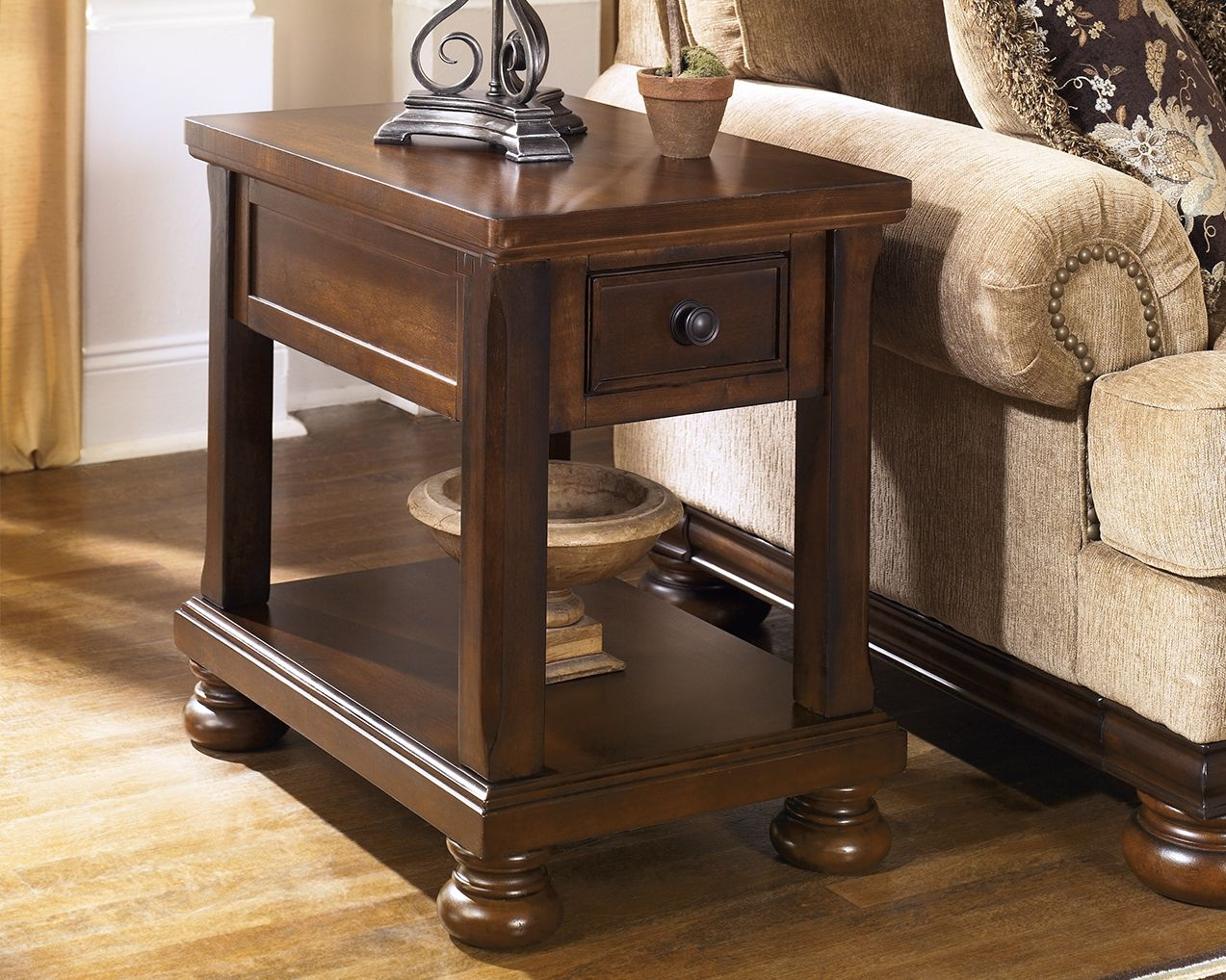 Porter Chairside End Table Ashley Furniture Homestore In 2021 End Tables Ashley Furniture Furniture