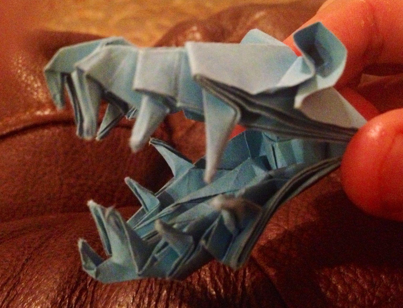 Lampe Origami T Rex