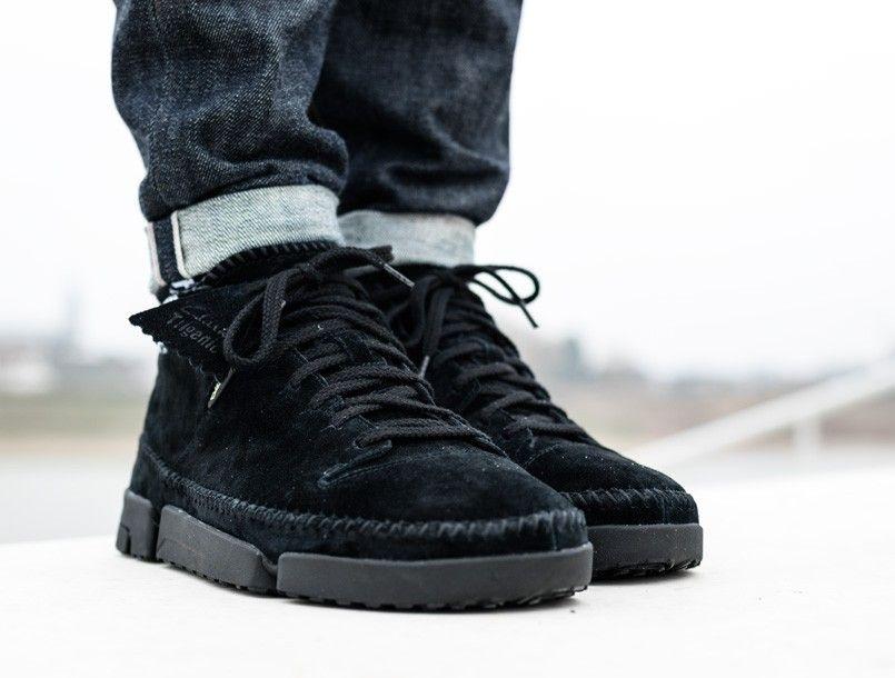 autumn shoes meticulous dyeing processes popular brand Clarks Trigenic Flex Gore-Tex black 2 | Clarks, Black suede ...
