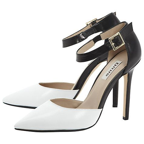 Buy Dune Demanding Court Shoes, Black/White Online at johnlewis.com. Gatsby-style!