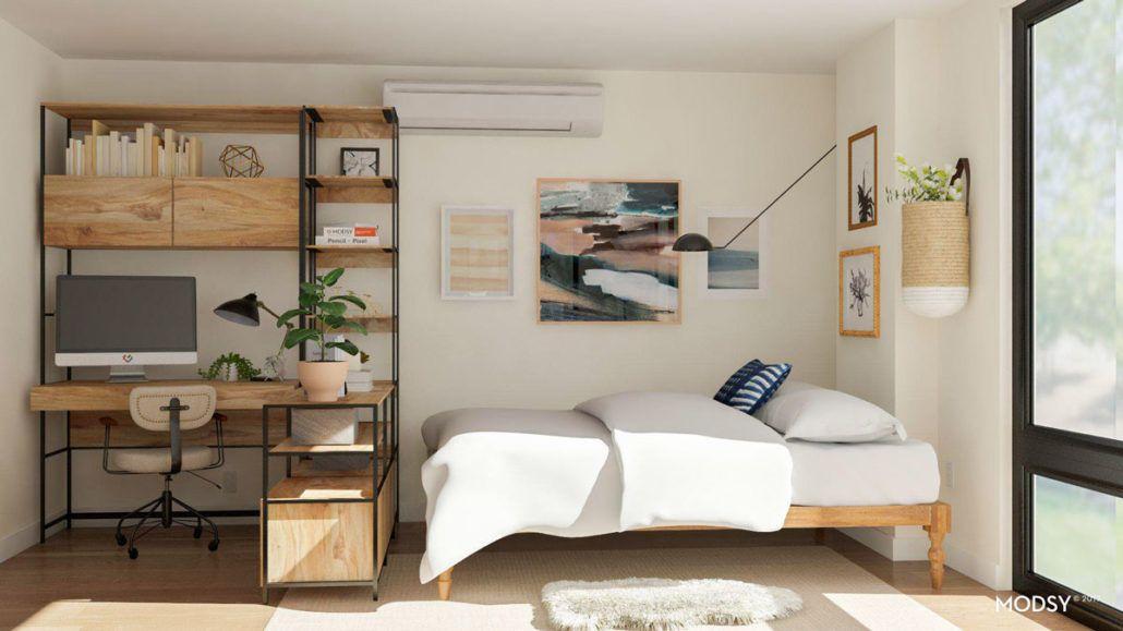 Studio Apartment Layout Ideas: Two Ways to Arrange a Square Studio images