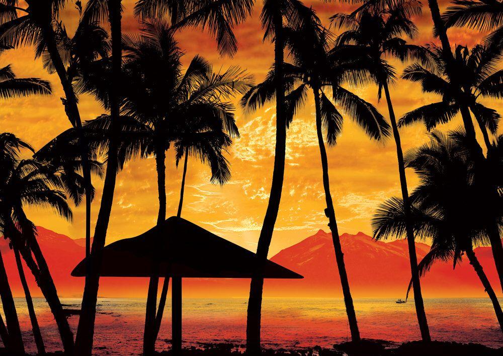 Sand Beach Sunset Seascape Wallpaper Prepasted Background Home Wall Art Mural