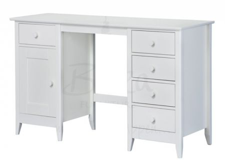 Cotswold Pine Ermilk White Dressing Table Has A Finished Frame With Storage