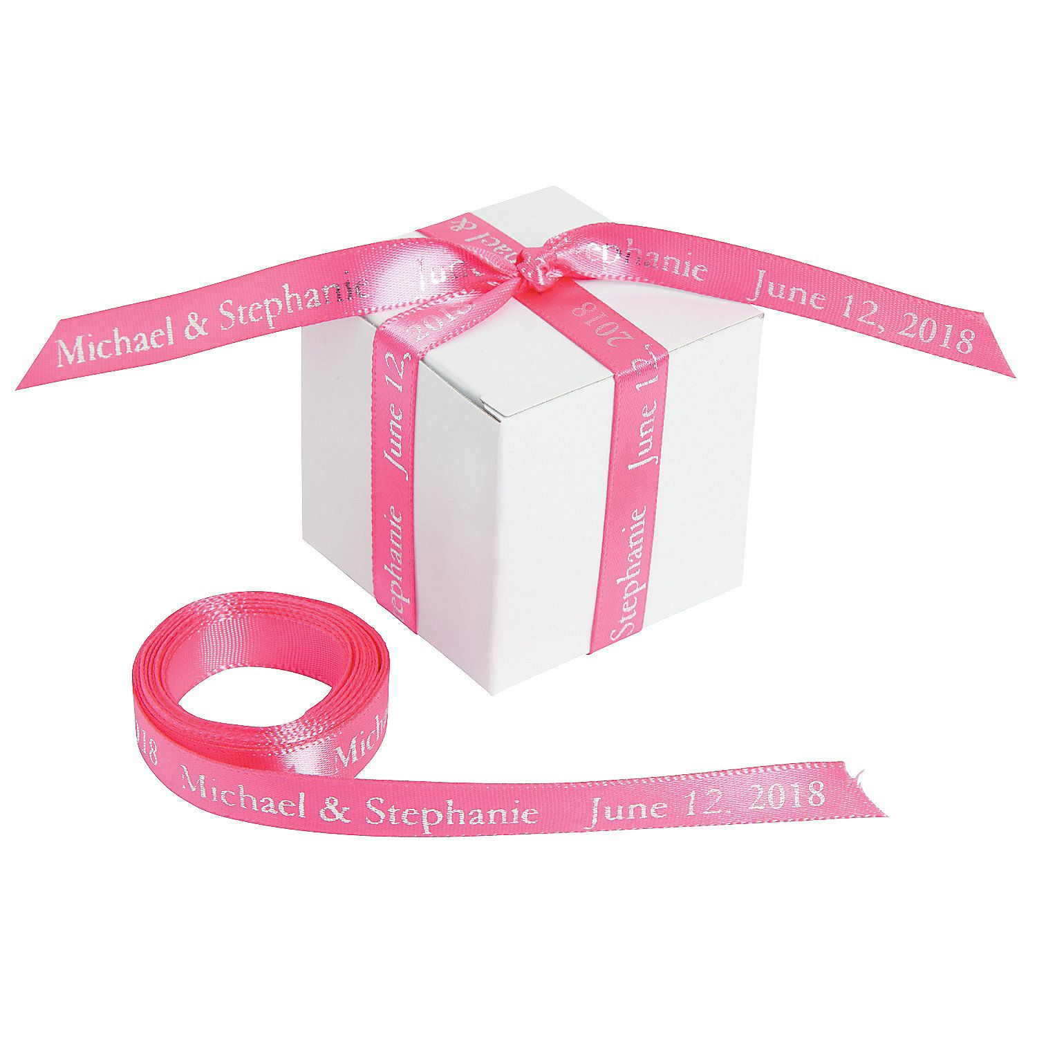 Hot Pink Personalized Ribbon - 3/8\