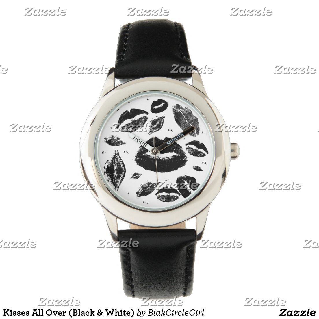 Kisses All Over (Black & White) Watch