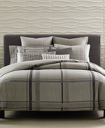 Hotel Collection Modern Plaid Duvet Covers, Only at Macy\'s | macys ...