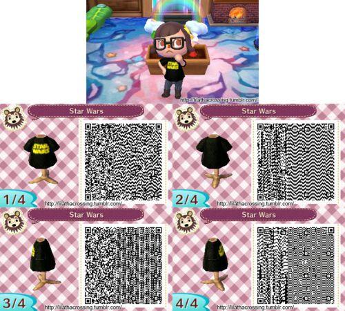 Star Wars Shirt Qr From Tumblr Animal Crossing Qr Codes