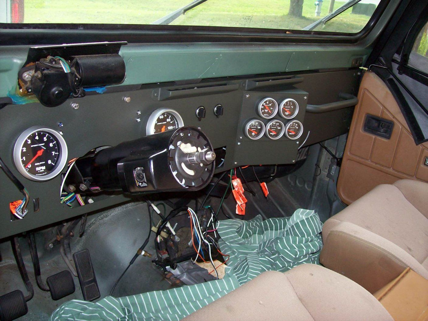 Jeep Yj Dash Conversion Custom Dash Jeep Yj Jeep Zj Jeep Mods