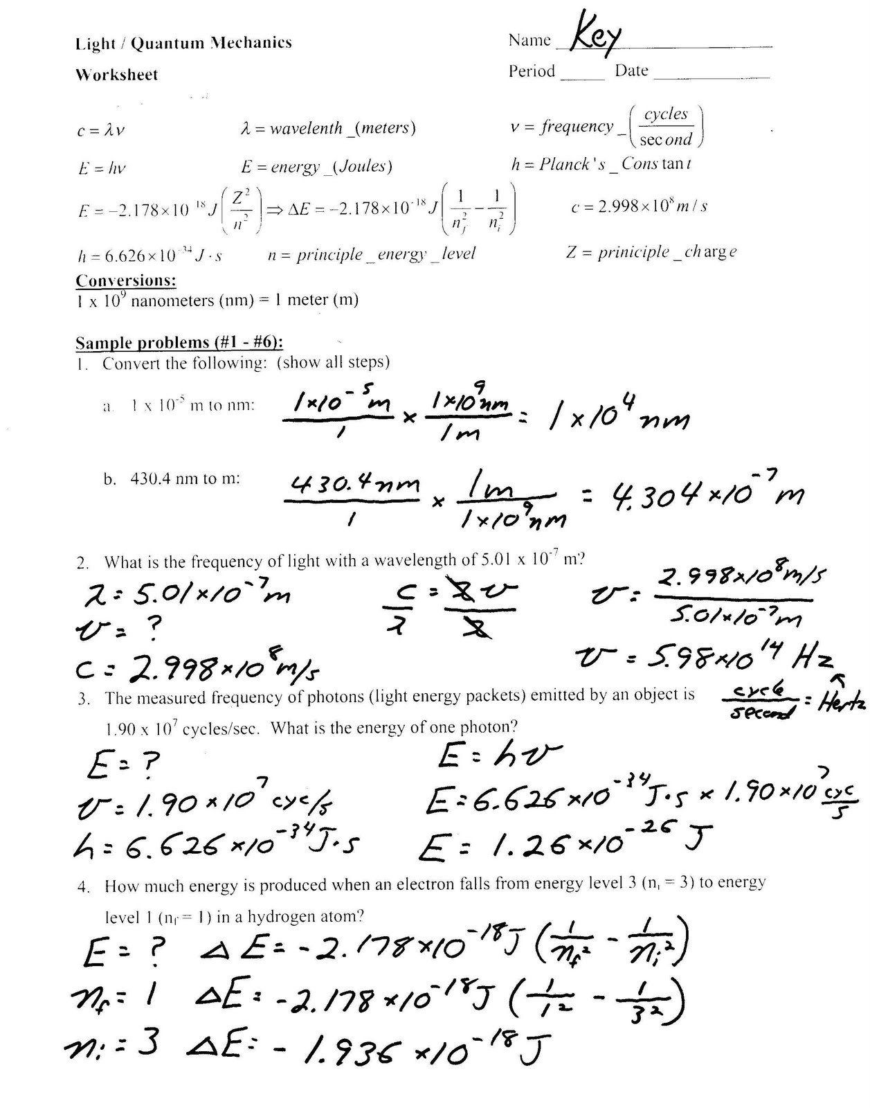 Bohr Model Worksheet Middle School Heritage High School