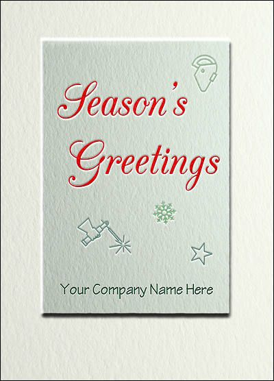 Welding Holiday Card (Glossy White) #2204 - new blueprint book for welders