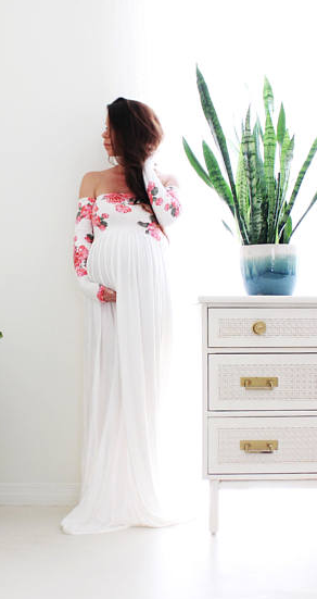 This Maternity Gown Is Gorgeous And Perfect For A Baby Shower Or