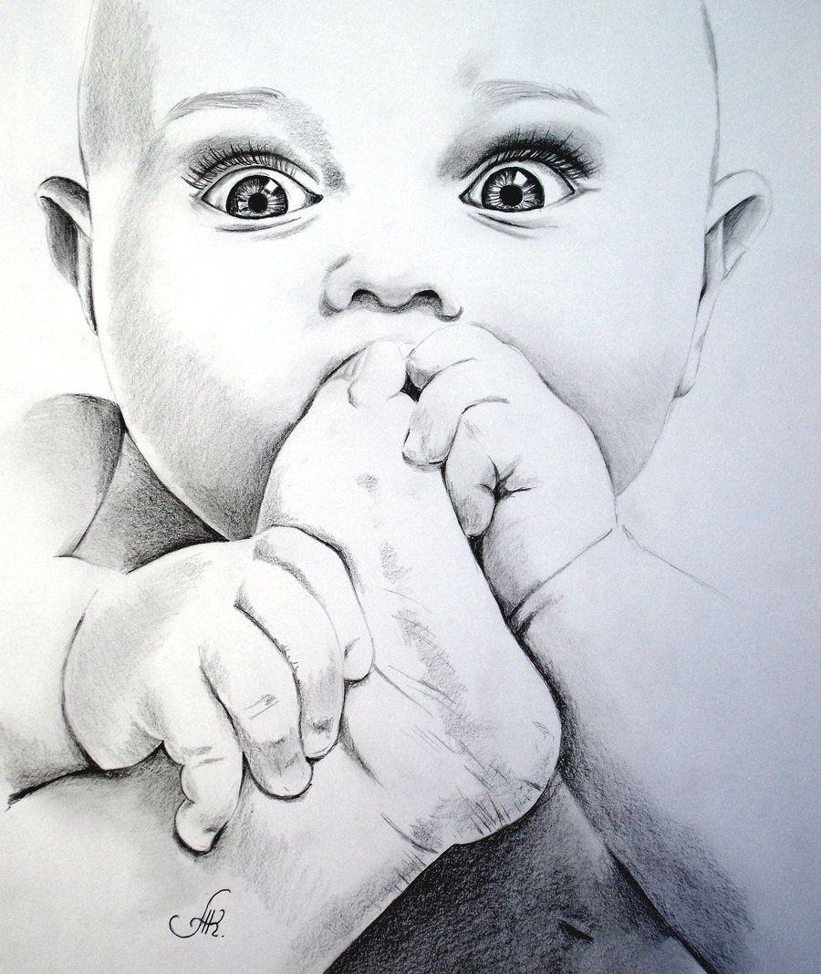 cute baby pencil   Cute baby drawings, Baby sketch, Baby art