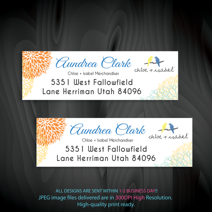 Personalized Chloe And Isabel Return Labels Chloe And Isabel Address Labels Address Labels Card Chloe And Isabel Cards Cli91 Address Labels Return Labels Labels