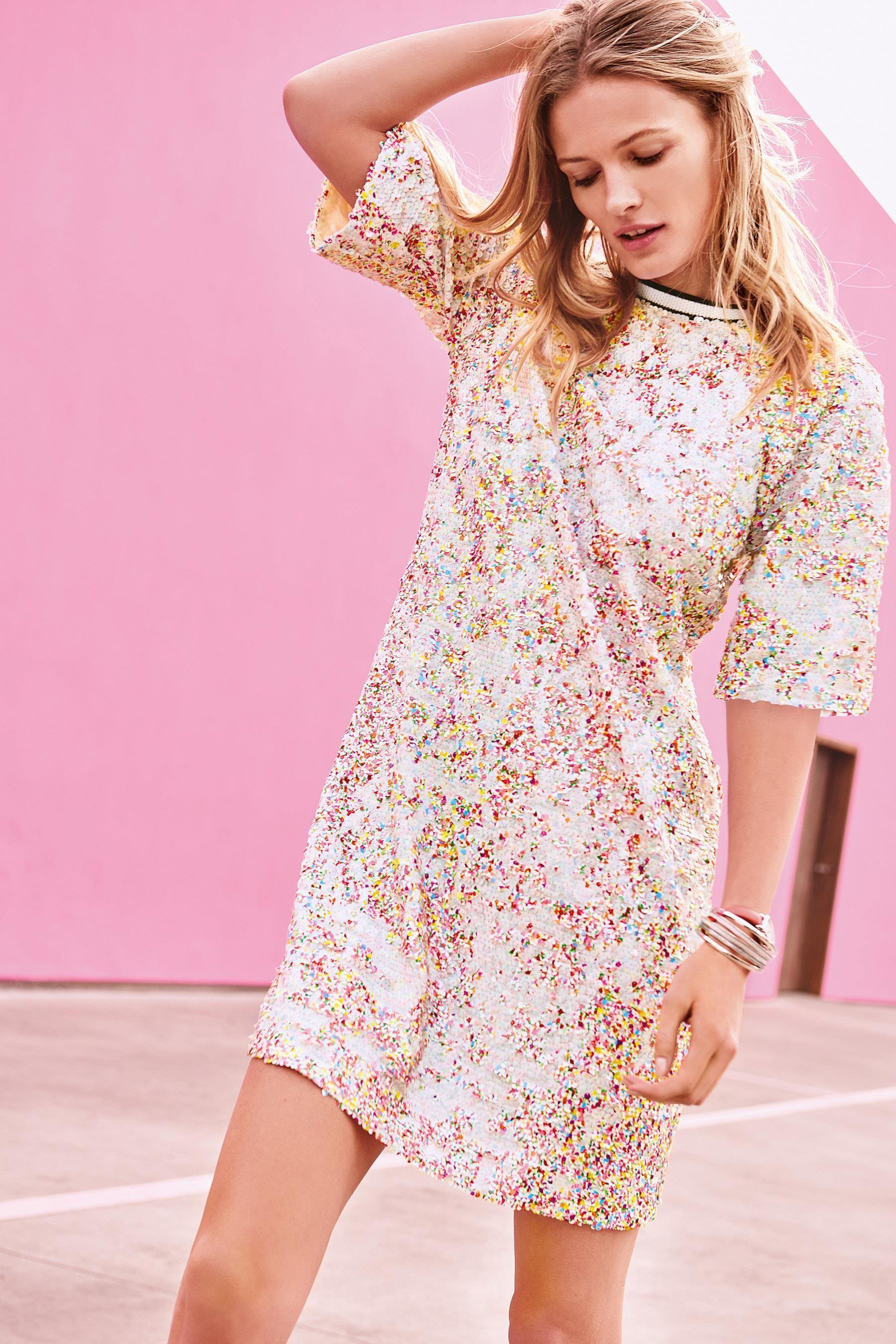 Buy multi sequin dress from next australia womens