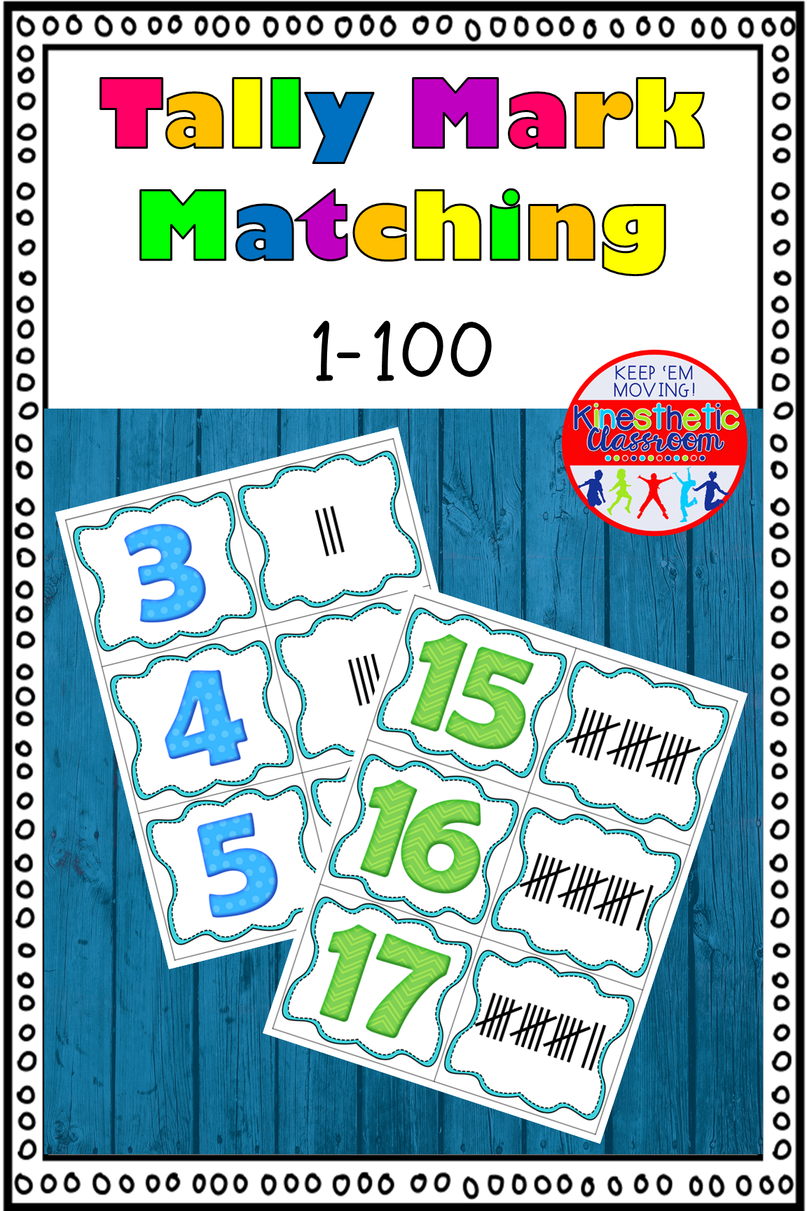 Tally Mark Matching Game 0 100