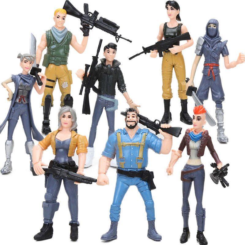 Fortnite Action Figure 8pcs Battleroyale Doll S Characters Ninja