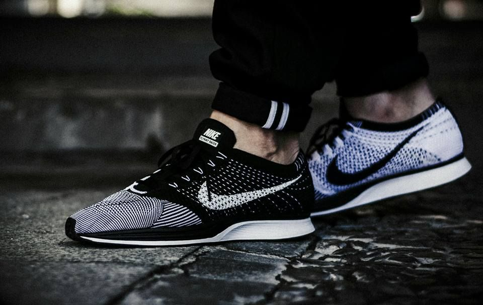 the latest cbcfd 289af ... White On Foot Look Nike Flyknit Racer Orca (by roberayo) – Sweetsoles –  Sneakers, kicks and trainers . ...
