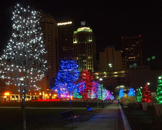 Downtown Lights Christmas Lights Brooklyn History Columbus Ohio