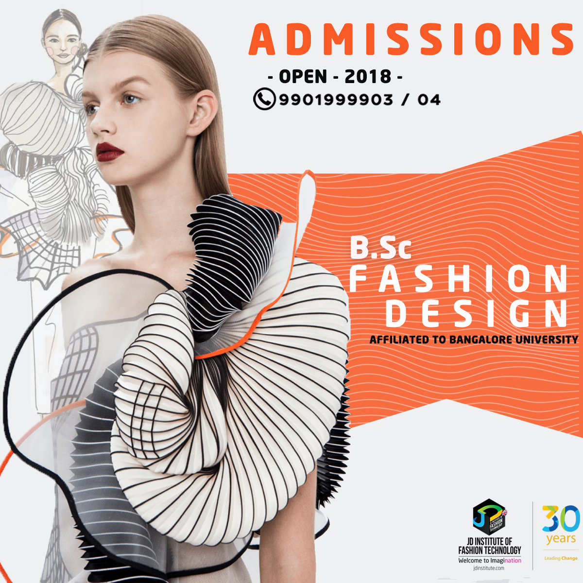 B Sc Fashion Design Programs Are Open At Jd Institute Of Fashion Technology Call Our Counsellors Today On 99 Technology Fashion Fashion Courses Fashion Design