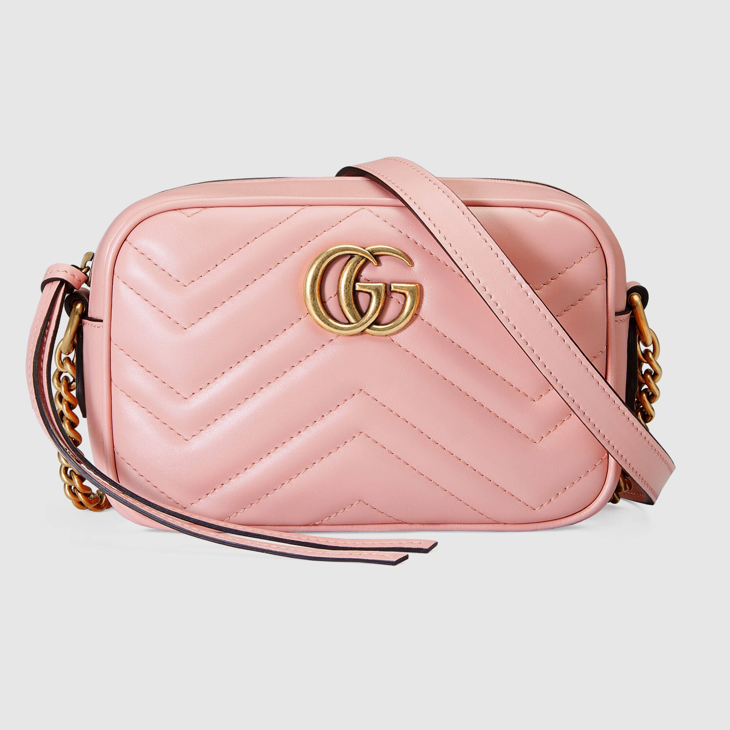 GG Marmont matelassé mini bag - Pink & Purple Gucci